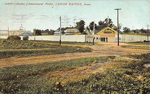 Cedar Rapids Iowa Alamo Amusement Park Antique Postcard K104949