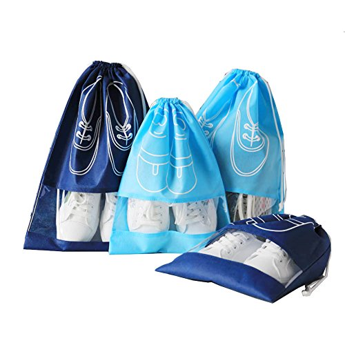 DEZEMIN Shoes Bags for Travel Business Trip Packing Organizer, Pack of 4 by DEZEMIN