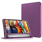 yoga tablet 2 - Lenovo Yoga Tab 3 Plus / Lenovo Yoga Tab 3 Pro 10 Case - Infiland Folio Premium PU Leather Stand Cover Fit for Lenovo Yoga Tab 3 Plus 10.1/ Lenovo Yoga Tab 3 Pro 10.1-Inch Tablet, Purple
