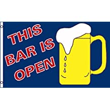 3x5 Foot This Bar Is Open Flag by Neon Sign Express