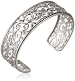 Sterling Silver Filigree Cuff Bracelet, 7.25'