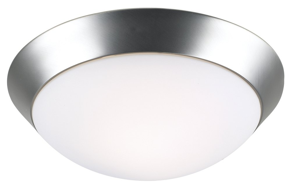 Davis 13'' Wide Brushed Steel Ceiling Light Fixture