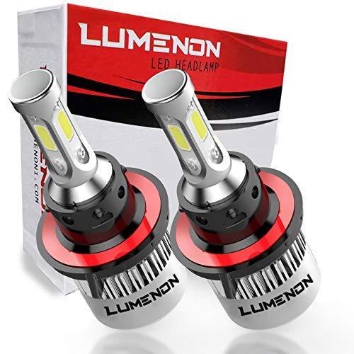 (Lumenon H13 9008 LED Headlight Kit Flip COB Chips-90W 18000LM 6000K Xenon White Light)