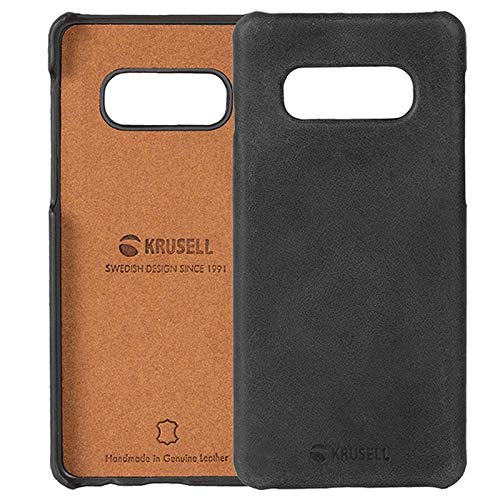 Krusell Genuine Leather Sunne Case for Samsung Galaxy S10e in Vintage Black