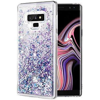 0878979de6f Amazon.com  Galaxy Note 9 Glitter Case with 3D PTE Screen Protector ...