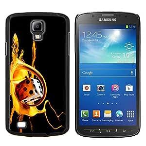 EJOOY---Cubierta de la caja de protección para la piel dura ** Samsung Galaxy S4 Active i9295 ** --Paint Dados de oro de Bling Tarjeta de juego de Poker