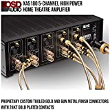 OSD Audio 240W 5-Channel Home Theater Amplifier – Digital Class H System, XA5180