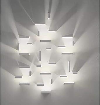 Lámpara de pared Cuadrado geométrico Lámparas de pared Led Lámpara de escalera de luz de dormitorio Lámpara de pared de sala de estar para iluminación de pared: Amazon.es: Iluminación