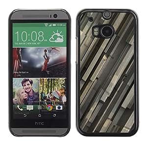 TopCaseStore / la caja del caucho duro de la cubierta de protección de la piel - Gray Pattern - HTC One M8