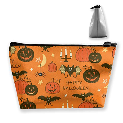 TLDRZD Happy Halloween Party Patterns Women Cosmetic Make up Storage Bag Organizer Purse Zipper Pouch -
