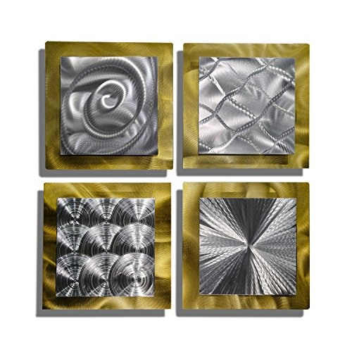 Statements2000 Gold & Silver Contemporary Metal Wall Art -...