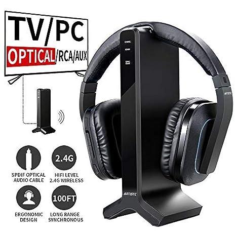 Artiste D1 Televisión inalámbrico auriculares con 2.4 GHz Digital Transmisor de carga, mehrfacher Auriculares Anges adhesivo sener inalámbrico auriculares ...
