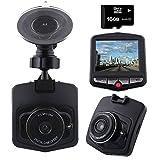 Free 16GB Micro SD Card Car and Truck Dash Cam ,720P Video Recorder, Digital Video Recorder, Dashboard Camera, dashcam 140 Degrees Wide Angle Lens Car Video Camera Audio Recording