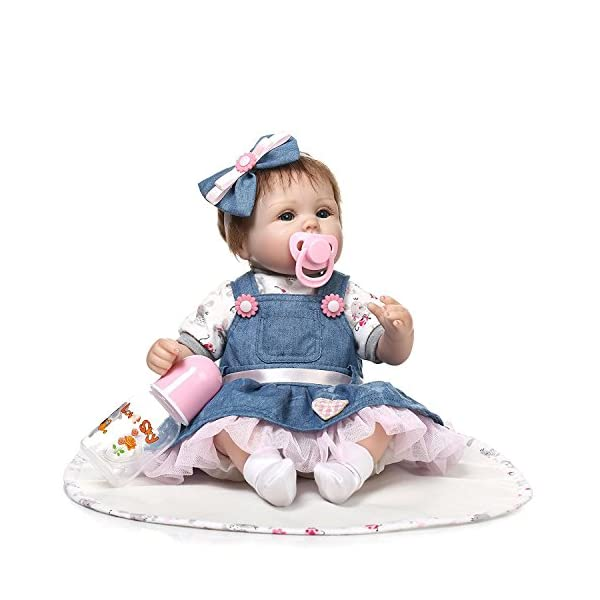 17/'/'42CM Lovely Reborn Baby Dolls Soft Silicone Vinyl Dolls Real Touch Gift