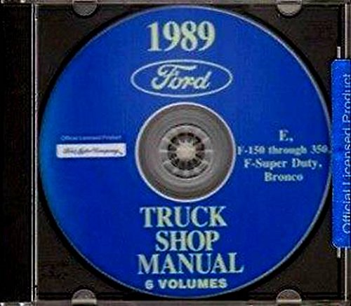 1989 FORD TRUCK And PICKUP REPAIR SHOP & SERVICE MANUAL CD For F-150 F-250 F-350 E-150 E-250 E-350 Econoline Super Duty Club, Cargo, Window, Display Van RV Cutaway