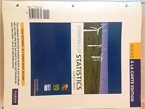 Essentials of statistics 4th edition triola pdf.