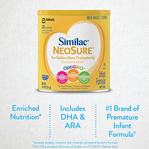 Similac NeoSure Infant Formula with Iron, For Babies Born Prematurely, Powder, 13.1 ounces (Pack of 6) by Similac (Image #2)