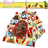 Aigou Bird Toys, Bird Hammock, Parrot Hanging Tent, Bird Nest House Bed, Parrot Habitat Cave Hanging Tent, Intelligence & Physique Improvement Cage Decor for Small and Medium Animals Parrot(Yellow)
