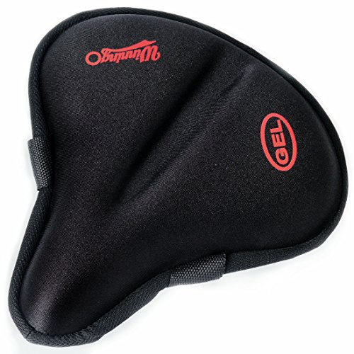 Winningo Exercise Gel Bicycle Saddle Cover Wide Cycling Seat Cushion for Wide Bike Saddle Large Bicycle Seat Pad