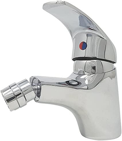 BES 23754 Grifo mezclador Basic, baño bidé, casa, cabezal móvil, gris