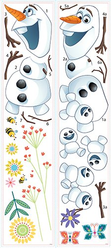 RoomMates RMK3019SCS Disney Frozen Fever Olaf Peel and Stick Wall Decals