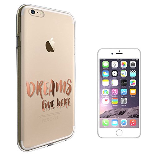 "C01535 - Dreams Live Here Quote Design iphone 7 Plus 5.5"" Fashion Trend Protecteur Coque Gel Rubber Silicone protection Case Coque"