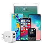 Beikell-Caricatore-USB-Caricatore-USB-da-Muro-a-2-Porte-48A-24W-con-Tecnologia-Smart-Adaptive-di-Ricarica-Rapida-per-iPhone-XSXS-MaxXRX-iPad-Samsung-Huawei-ECC
