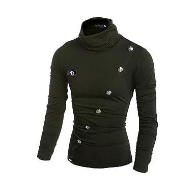 COCO clothing Otoño Invierno Cuello Alto Sweatshirt Hombre Suéter ...