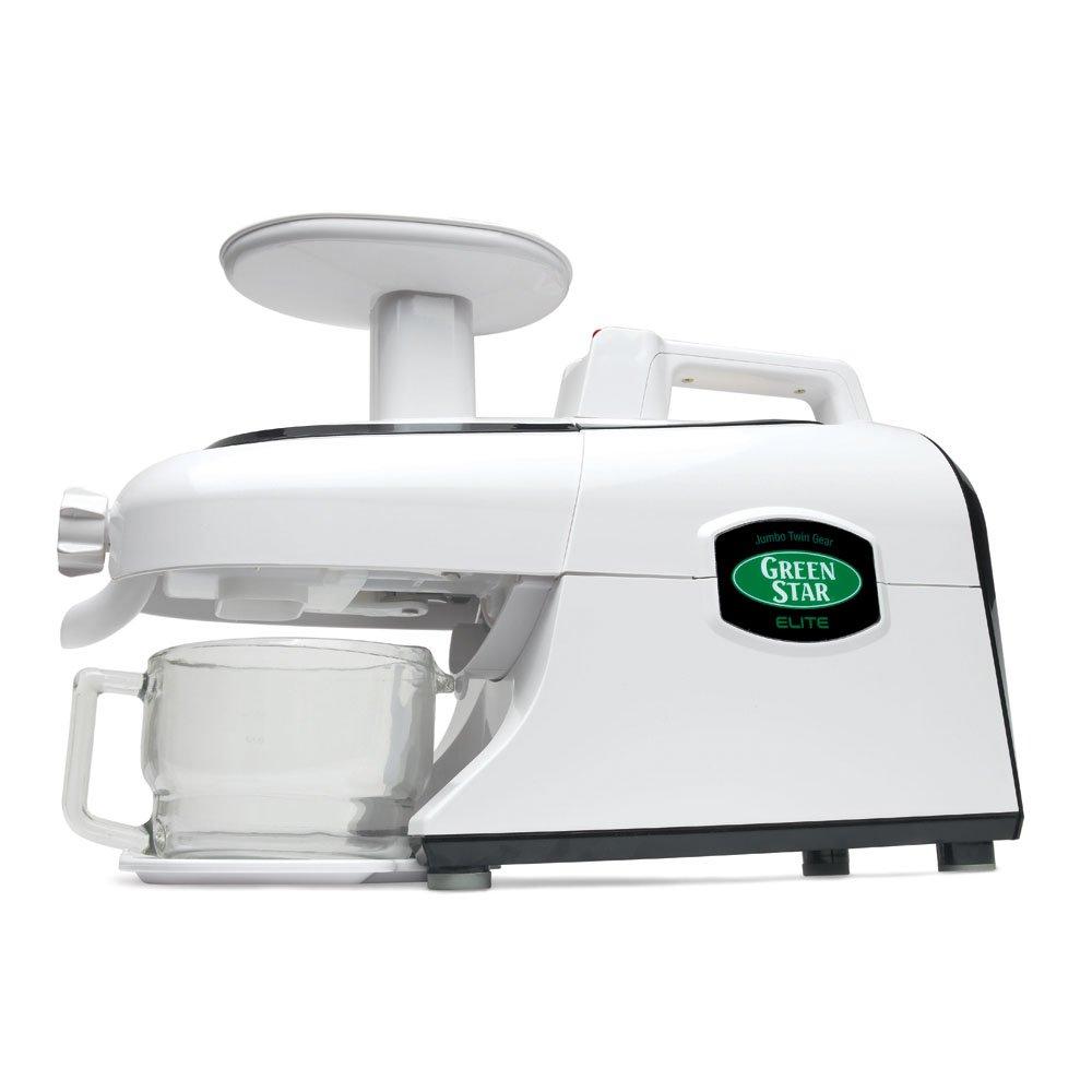 Tribest Green Star Elite GSE-5300 Deluxe Jumbo Twin Gear Juice Extractor with Pasta Maker Set