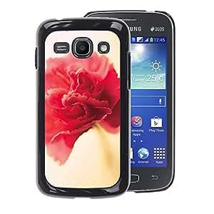 A-type Arte & diseño plástico duro Fundas Cover Cubre Hard Case Cover para Samsung Galaxy Ace 3 (Flower Spring Red Pink Yellow Petal)