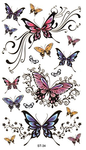 Supperb Butterfly Temporary Tattoos/6-pack by Supperb (Image #5)