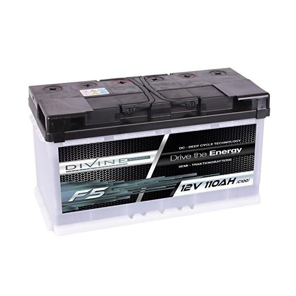 51DoF4zqJQL Divine 12V 110Ah Solarbatterie Mover Versorgungsbatterie Wohnmobil Boot Marine Camping Batterie Wartungsfrei
