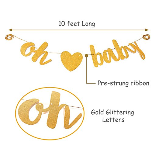 Baby Shower Party Decorations Kit Unisex, Girls and Boys | Oh Baby Banner Neutral Decor | 12 Pcs Balloon Set | Glitter Unisex Pregnancy Announcement Gender Reveal Party | 50 Pcs Premium Baby Shower Emoji Game Cards by Newborn Party (Image #8)
