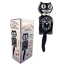 "New Classic Vintage Mini Kitty-cat Clock Black 12 ¾"" (including Tail) Cat Clock"