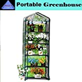 Green Garden 5 Tier Mini Hot House W Shelves Greenhouse GH005