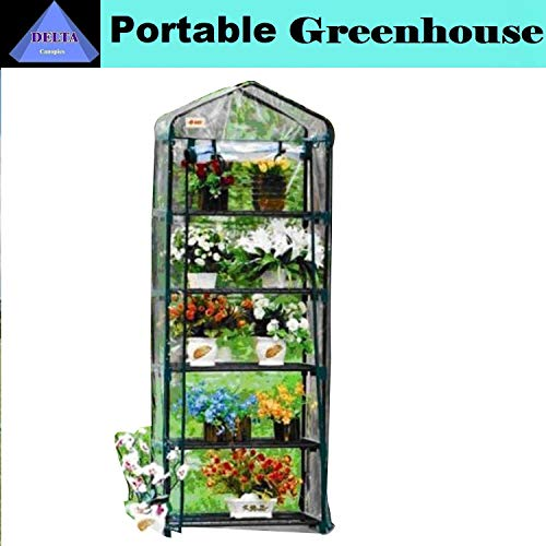 Green Garden 5 Tier Mini Hot House W Shelves Greenhouse GH005 by DELTA Canopies