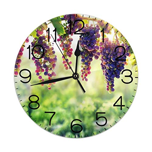 - CL-Shine Wall Clock Grapevine 10 Inch Wall Clock Battery Operated Silent Non Ticking Large Decorative Retro Wall Clocks for Living Room Kitchen Kids Room