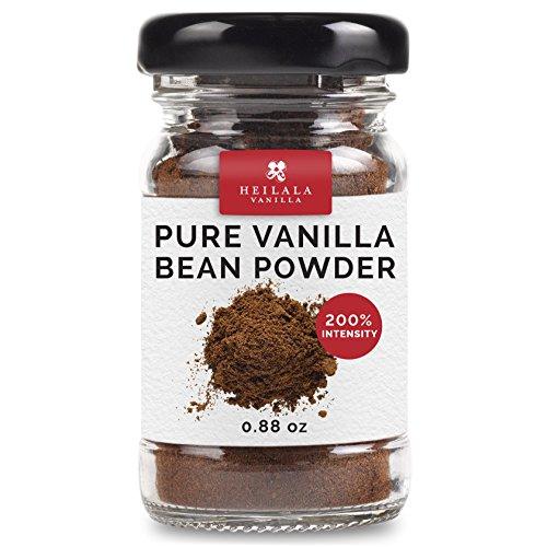 Pure Ground Vanilla Bean Powder - 100% Ground Gourmet Vanilla, Organically Farmed & Grown in Tonga, Hand Picked Pods, Alcohol Free, Sugar Free, Keto, Award Winning - Perfect for Raw ()