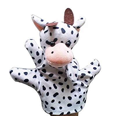 Milk Cow Baby Child Zoo Farm Animal Hand Glove Puppet Finger Sack Plush Toy: Toys & Games