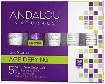 Andalou Naturals, Facial Age Defying Get Started Kit, 5 Count