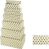 Geschenkboxen Weihnachtswichteln Boxen Karton Geschenkkarton Verpackung 4-tlg