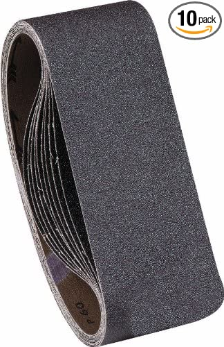 United Abrasives-SAIT 57905 1AX 4 X 24 80 Grit Blue Line Sanding Belt 10-Pack