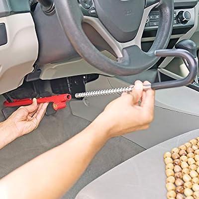 Fairly Odd Treasures Steering Wheel Brake Pedal Lock Adjustable Universal Anti Theft Security System for Car Truck SUV Van: Automotive