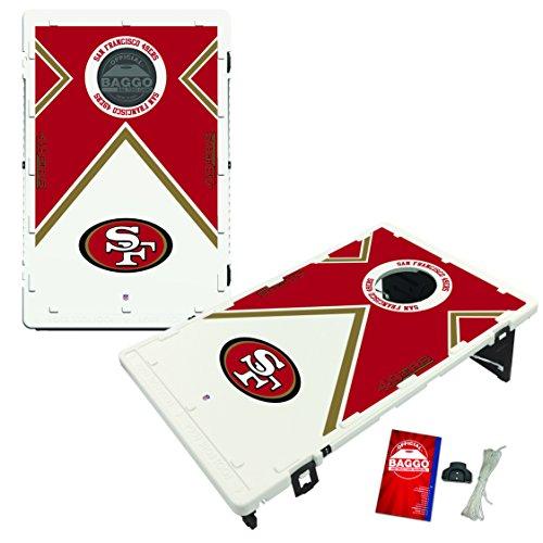 NFL San Francisco 49ers Baggo Portable All-Weather Vintage Cornhole Boards Game Set, One Size, Team Color