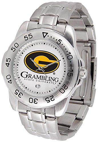 Watch Steel Sport Tigers State (Grambling State Tigers Sport Steel Band Men's Watch)