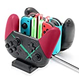 Controller Charger Dock for Nintendo Switch, 6 in 1 Charging Station for Nintendo