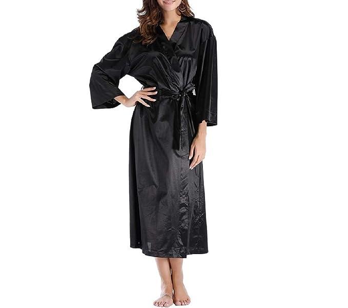 Bata de Mujer Bata de algodón Pijama camisón: Amazon.es: Ropa y accesorios