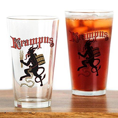 CafePress Krampus Pint Glass, 16 oz. Drinking Glass