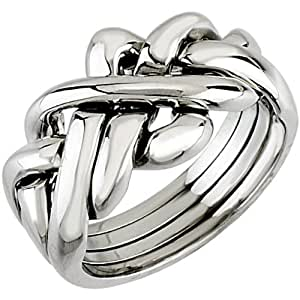 14kt white gents puzzle ring jewelry