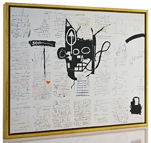 FRAMED Jean Michel Basquiat Giclee Canvas Print Paintings Poster Reproduction Fine Art Home Decor (Giclee Framed)